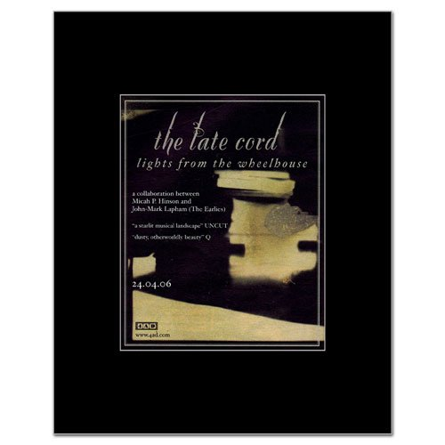 LATE CORD - Lights From the Wheelhouse Matted Mini Poster - 14x11cm
