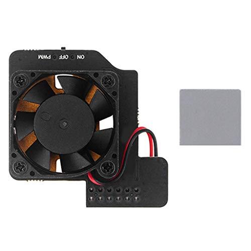 Meipai Ventilador de enfriamiento de control de velocidad de cobre puro metal inferior ventilador compatible para RPi 4B/3B+3B