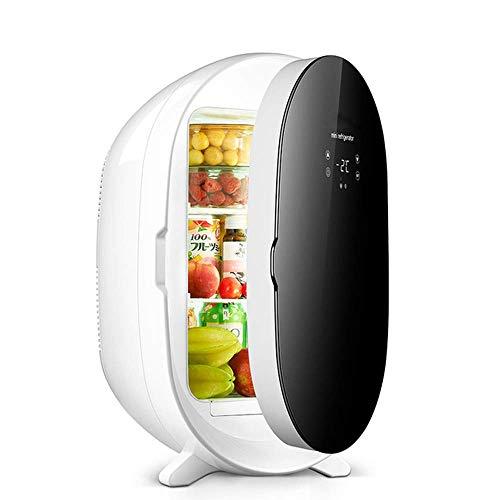 HRRF 20L Mini refrigerador, refrigerador portátil Frigorífico más Caliente para Maquillaje, Nevera para el Cuidado de la Piel de una Sola Puerta para Coche, hogar, Oficina