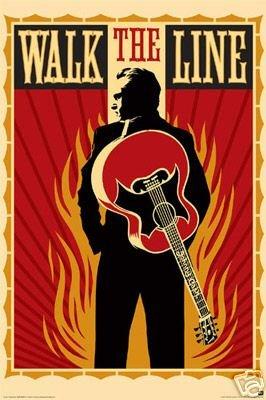 Johnny Cash - Walk the Line - Rare New Poster