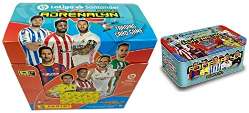 Panini - Caja con 50 Sobres + Tin Box Adrenalyn XL 2020-2021.
