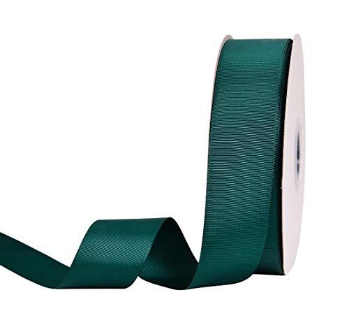 YAMA Massives Ripsband, 3,8 cm, 45,7 m lang, für Geschenkverpackungen, Blumendesign, Basteln, Party, Hochzeit, Dekoration, Blaugrün