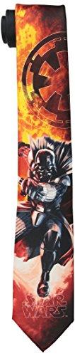 Star Wars Men's Vader's Fury Tie, Red, One Size
