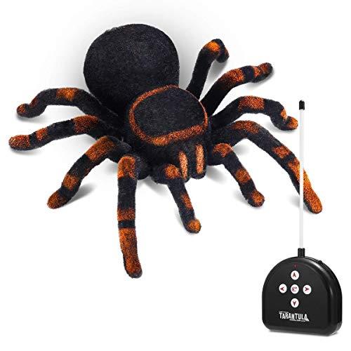 Llpeng Fernbedienung Spinne for Unfug Naturgetreue Plüsch Tarantula Halloween RC Spinne Kinder Spielzeug Simulation Crawl Fernbedienung Spinne Geschenk for Junge Mädchen