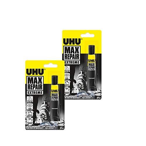 Uhu 45820 Max Repair - Extrem-Kleber, 20 g Tube (2er Pack)