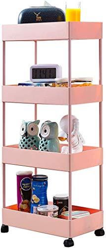 Furinno Turn-S-Tube 4-Tier Multipurpose Shelf Display Rack, Square, Pink/White