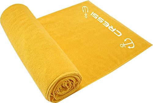 Cressi Cotton Frame Beach Towel Toalla Deportiva, Adultos Unisex, Sunflower, 90 x 180 cm