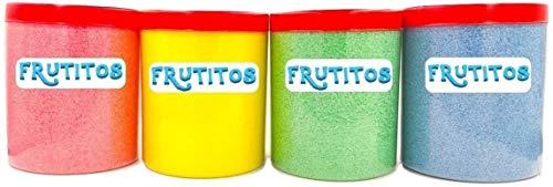 FRUTITOSCOM - Algodón Nubes de Azúcar Pack 4 sabores - (4 x 500 gr) Especial para máquinas de algodón