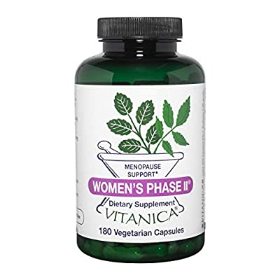 Women's Phase II provides a broadly acting combination of herbs for the perimenopausal or menopausal woman for balancing support and symptom relief Perfect for mild to moderate menopause symptoms Suitable for vegetarians and vegans Non GMO, organic a...