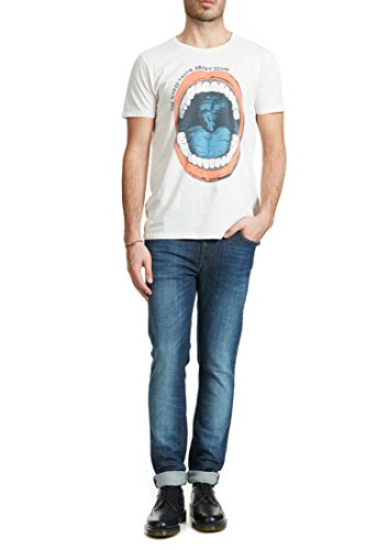 Nudie Jeans Herren Thin Finn Jeans in Blue Vision - Blau - 31W / 34L