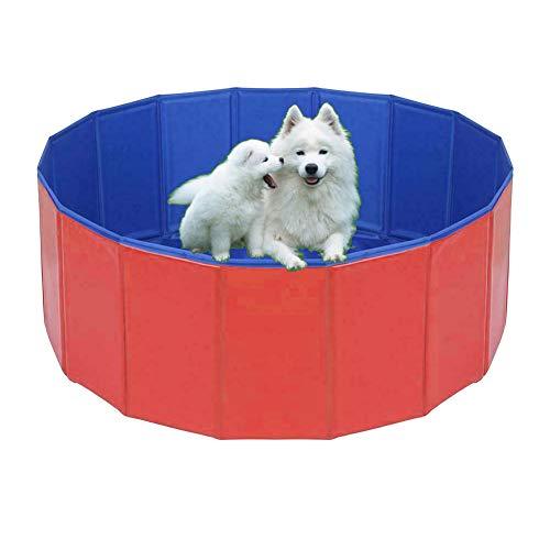 CAMWAY Hundepool Haustierpool für Große & Kleine Hunde, Faltbare Planschbecken für Kinder und Hunde, UV-Schutzfunktion und PVC-Verbundgewebe, 80 x 80 cm