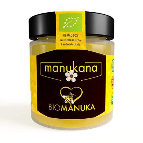 Manukana Bio Manuka Honig MGO 263+ (250g) | Weltweit beste Qualität | Ethische Imkerei | Echte Gläser