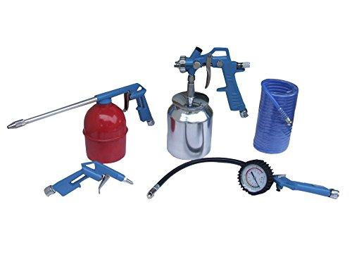 Labor 10938 Kit Accessori per Compressore, 5 Pezzi, Blu