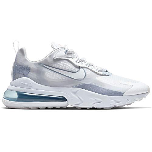 Nike Air Max 270 React Se Zapatillas de correr para hombre Ct1265-100, Blanco (Niebla blanca-blanco puro de platino), 40 EU