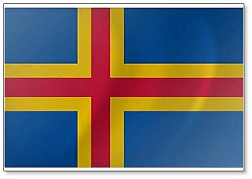 Kühlschrankmagnet, Motiv Flagge Aland Islands