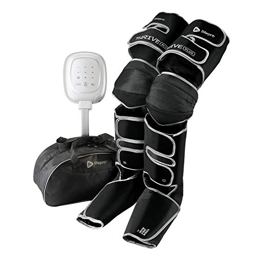 LifePro Thrive Plus Thigh, Calf and Foot Massager Machine Extra Wide - Leg Compression Massager - Heated Knee Pain Relief, Poor Circulation, Vein Support - 6 Massage Modes, Remote Control