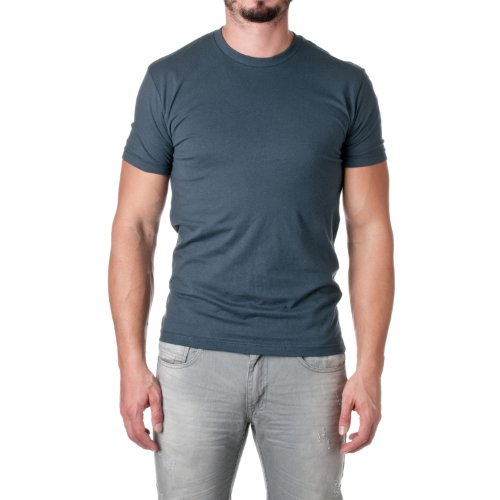 Next Level Mens Premium Fitted Short-Sleeve Crew T-Shirt - Large - Indigo