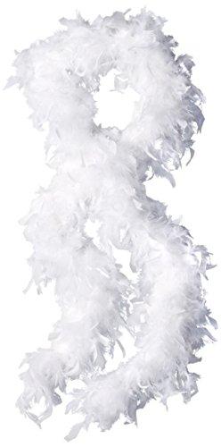 FORUM Novelties Dinde Boa Écharpe, Blanc, 55 grammes