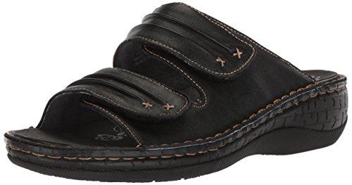 Propet Women's June Slide Sandal, Black, 12 2E US