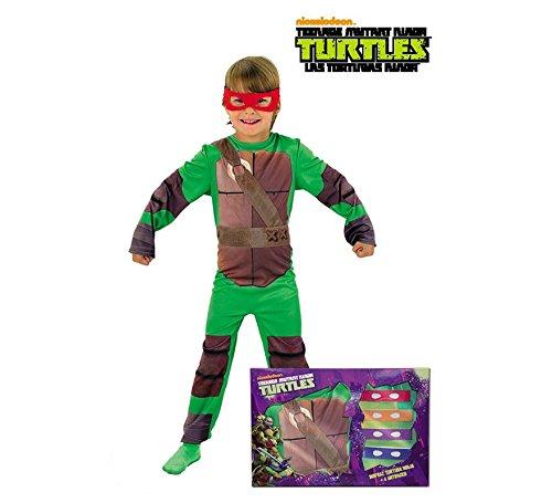 Disfraz de Tortuga Ninja en caja para niño, infantil 5-7 años (Rubie's 888261-M)