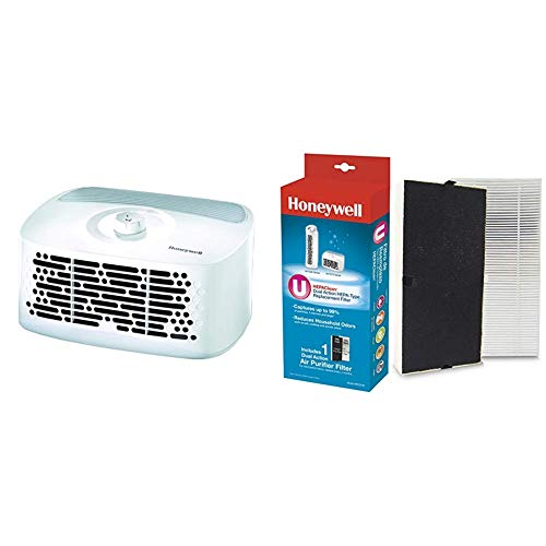 Best Prices! Honeywell HEPAClean Tabletop 13' x 13' Room Air Purifier with Hepaclean Replacement Fil...