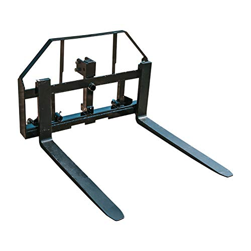 Titan Attachments 42-in Pallet Fork Hay Frame Attachment with Rack, Receiver Hit