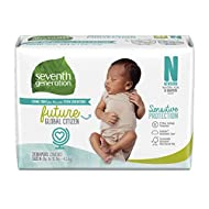 Seventh Generation Baby Diapers Sensitive 12hr Protection Free & Clear with Umbilical Cord Cutout and New Absorbancy Layer Size Newborn 31 Count