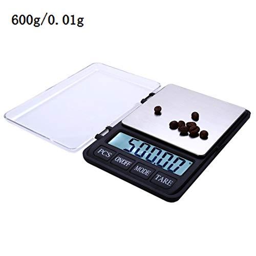 Hoge precisie elektronische schaal XY-8007 3,5 inch hoge kwaliteit en precisie van hoge elektronica (0,01 g ~ 600 g), zonder batterijen.