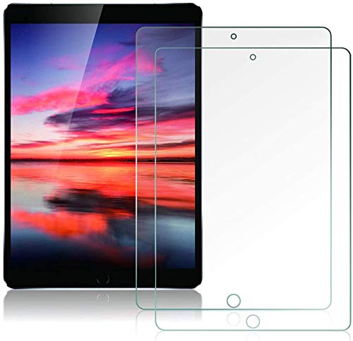 2 Pack Screen Protector for iPad 8th Generation / 7th Generation 10.2 Inch [ Tempered Glass ] [ Bubble-Free ] [ Anti-Scratch ], Support Apple Pencil for New iPad 8th Gen 2020 / iPad 7th Gen 2019