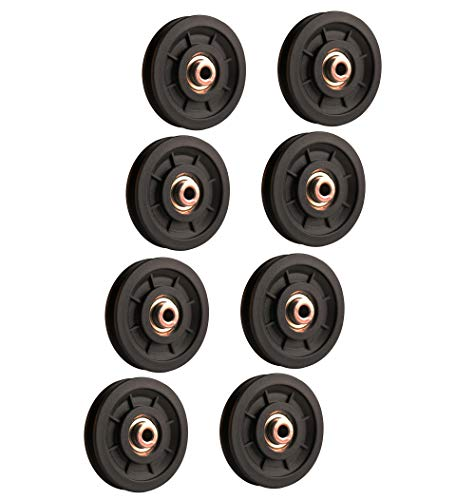LFJ 90mm Poleas Gimnasio, Polea de Rodamiento Universal, Cable Redondo Polea Rueda para Fitness Equipo, Parte de Puerta de Garaje (8Pcs)