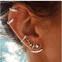 Pendientes de clip GONO Fashion para el cartílago de la oreja, sin perforación, para boda, style E