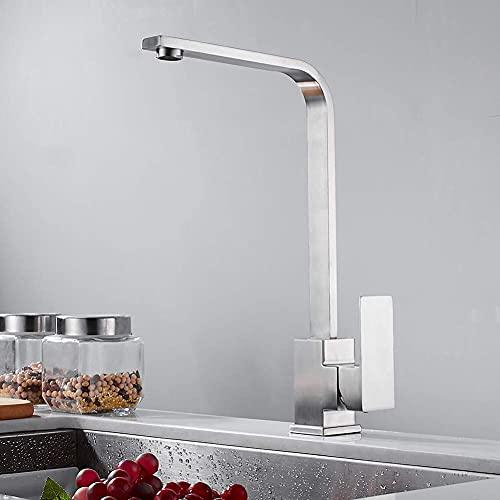 Grifo de Cocina Hot Hot Water Faucet Classic Suple Soporte de Acero Inoxidable Single-Holkitchen Taps Grifo Basikitchen Grifo (Color : with Hose Size 12)