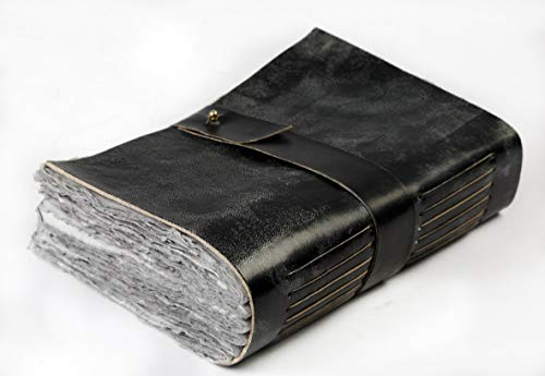 Leather Journal - Vintage Journal for Women Men - Book of Shadows -288 Pages Writing Journal - Antique Deckle Edge Handmade Paper of 200 GSM- 13 inches X 8.5 inches