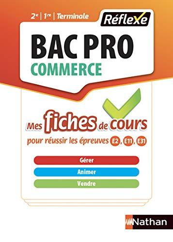 Gérer animer vendre Bac Pro Commerce : Tout le cours en fiches (Réflexe)