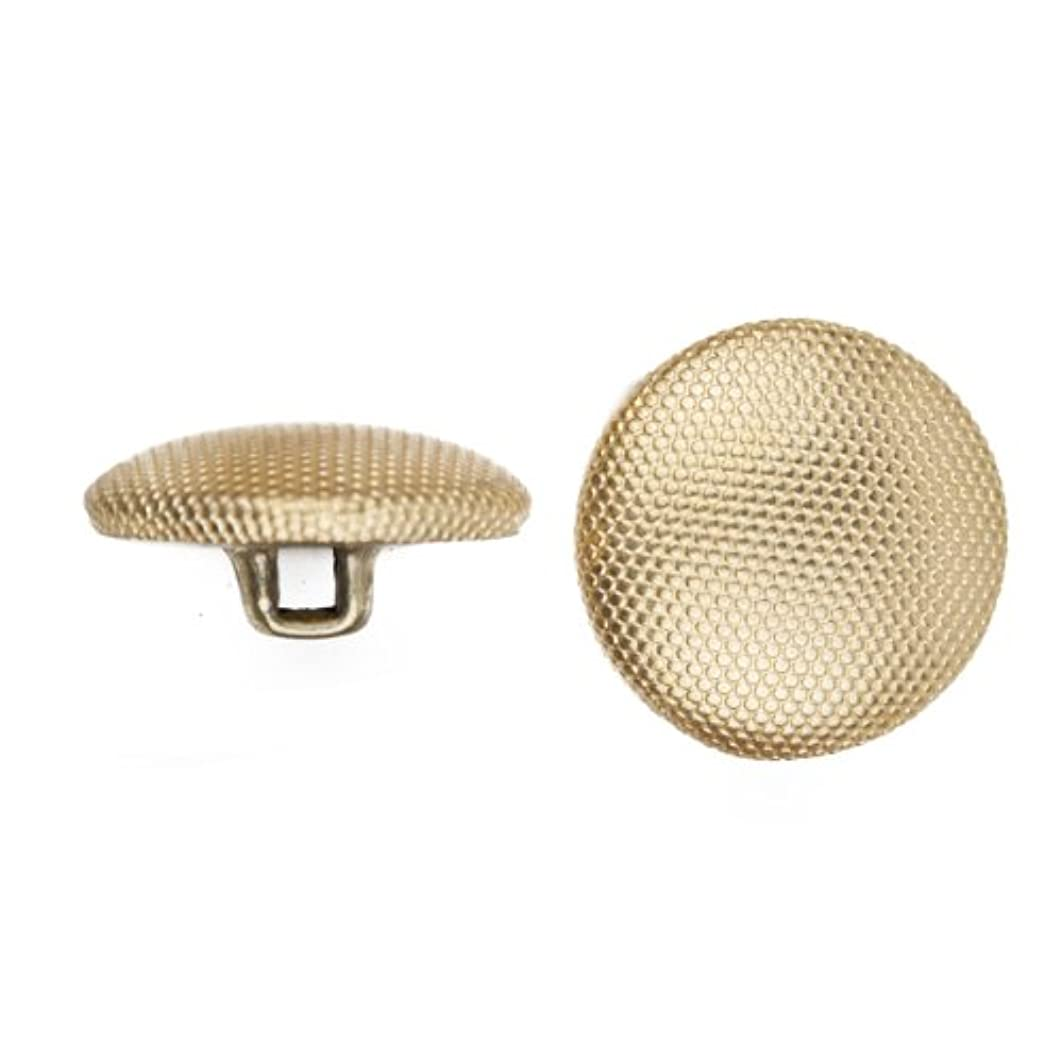 C&C Metal Products 5052 Beaded Pattern Dome Metal Button, Size 20 Ligne, Gold, 144-Pack