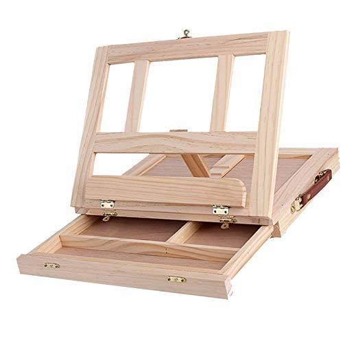 1 caballete de madera, ligero portátil y plegable, perfecto para almacenamiento o viajes, suministros de arte