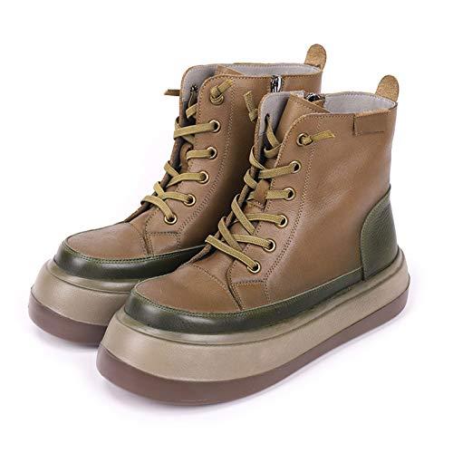 YZJYB - Botas de nieve para mujer, impermeables, para invierno, botas de tobillo para mujer, zapatos de chelsea, cómodas, forradas, con forro de piel, cálido, para motocicleta, para ocio, deporte, 35