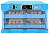 Incubatrice, Controllo di Temperatura Incubatrici di Uova, Covatrice Macchina Automatica Tornitura di Uova, per Gallina/Anatra/Quaglia,Blue_128 Eggs
