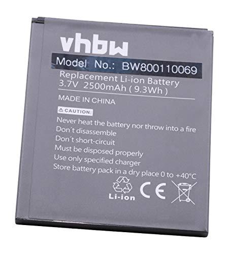 vhbw Li-Polymer Batteria 2500mAh (3.8V) per Cellulare Smartphone Telefono Zopo 2A, 9515, C2, C3, ZP980, ZP980 Plus