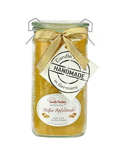 Candle Factory–Mini Jumbo Vela Perfumada Weck Aroma: Caliente Manzana espirales