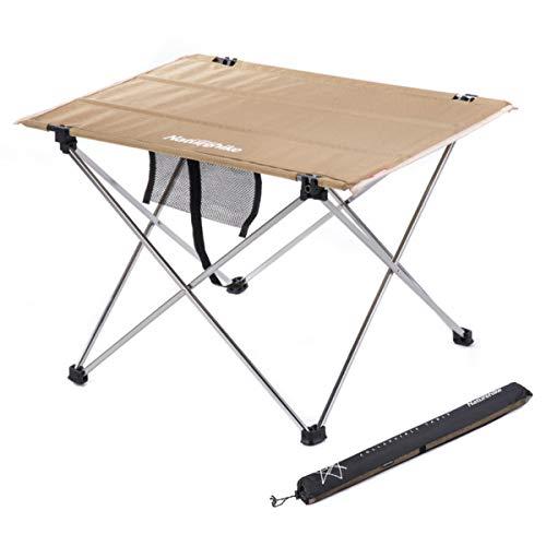 Freetrekker XXL Campingtisch klappbar Alu Gartentisch Klapptisch Camping Tisch bis 30 kg belastbar Aluminium für Outdoor Picknick BBQ Wandern Reise Angeln Urlaub(Tisch-beige, XXL)