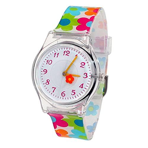 Reloj para Niño Nueva Marca Niños Estudiantes Moda Relojes De Cuarzo Niños Suave Impermeable Deportes Corazón Mariposa Relojes De Pulsera