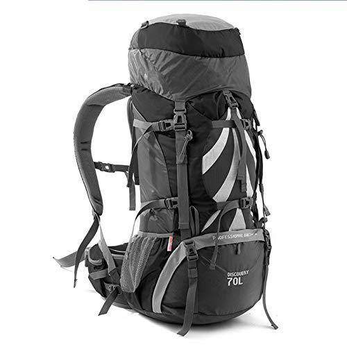 WMC Randonnée Sac à Dos, équipement de Camping 70 litres Cadre intérieur Sac à Dos Randonnée à Dos randonnée en Plein air Voyage Camping Backpack,Noir