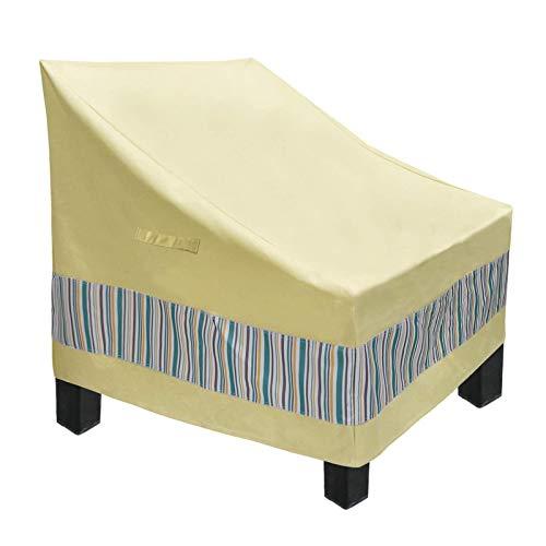 COIL-C - Fundas para muebles de terraza para sillas de exterior Deep Duty Lounge para cualquier condición meteorológica, resistentes cubiertas de terraza para jardín, porche, césped, tamaño mediano