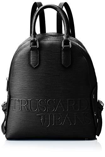 Trussardi Jeans Melly Backpack, Zaino Donna, Nero, 26.5x30x11 cm (W x...