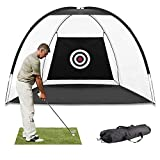 Kerrogee Large Size Golf Hitting Nets,Golf Chipping Net Training Aids Golf Practice Net for Backyard Indoor Outdoor, Testing Range, Swing and Clubs Improving