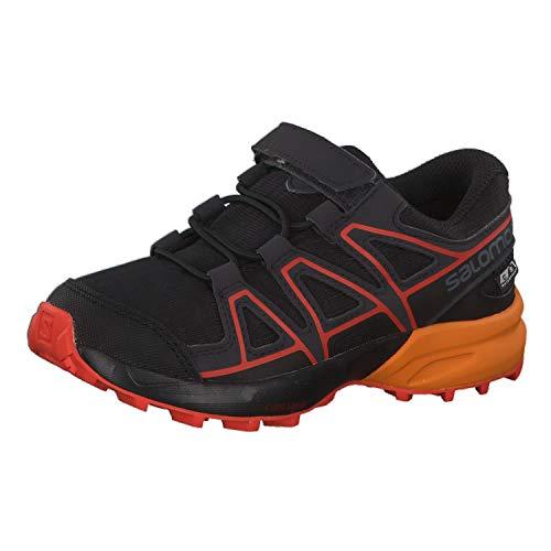 Salomon Speedcross CSWP K, Zapatillas de Trail Running Unisex Niños, Negro/Naranja (Black/Tangelo/Cherry Tomato), 26 EU
