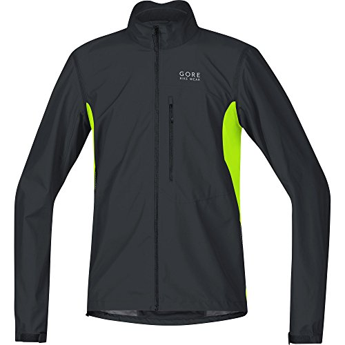 GORE WEAR Herren Element Windstopper Active Shell Zip-Off Jacke, Schwarz/Neon Gelb, S