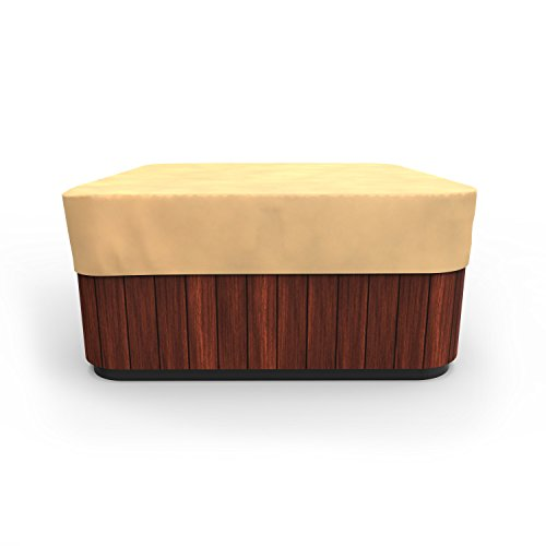 Budge P9A16SF1 All Seasons Square Hot Tub Cover Lightweight, UV-Resistant, Medium, Tan