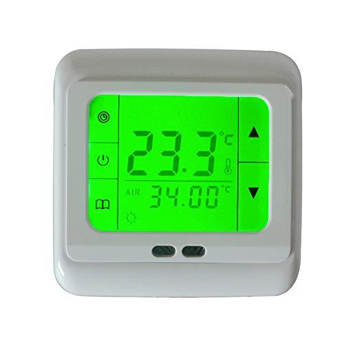 KETOTEK Elektrische vloerverwarming thermostaat Controller Digitaal Programmeerbare kamerthermostaat Slim LCD touchscreen met vloersensor